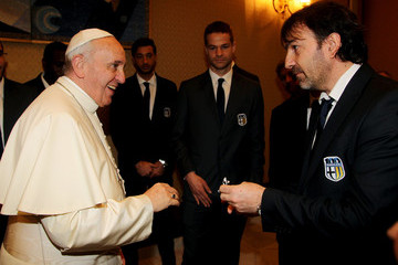 Alessandro Melli Pope Francis Meets FC Parma