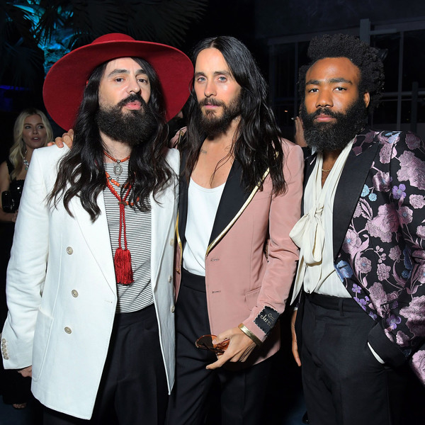 2019 LACMA Art And Film Gala Honoring Betye Saar And Alfonso Cuarón - Best Of [facial hair,beard,event,fashion,moustache,performance,fashion design,alfonso cuar\u00f3n,betye saar,jared leto,donald glover,alessandro michele,best of,l-r,lacma,gucci,lacma art film gala]
