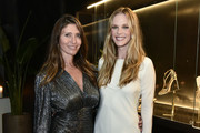 Valentina Micchetti and Anne Vyalitsyna attend the Alevi Milano NYFW Dinner on September 09, 2019 in New York City.