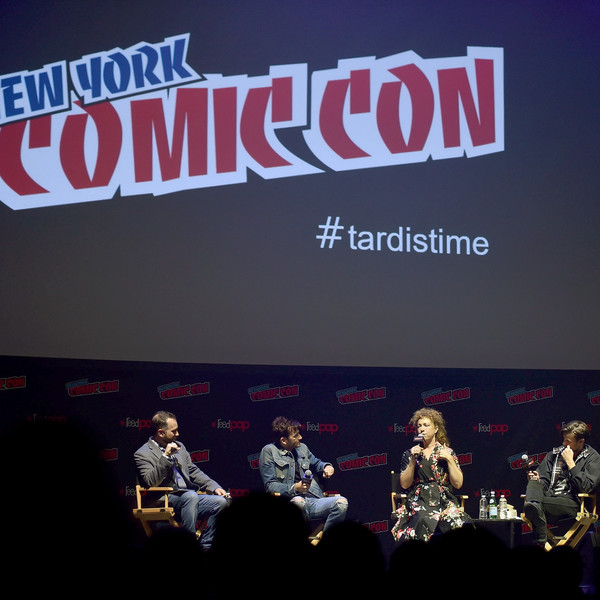 New York Comic Con 2018 -  Social Ready Content [font,performance,event,stage,music,advertising,talent show,banner,graphics,games,david tennant,matt smith,alex kingston,content,new york city,hammerstein ballroom,panel,tardis time,new york comic con]