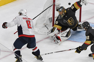 Alex Ovechkin Marc-Andre Fleury 2018 NHL Stanley Cup Final - Game Two