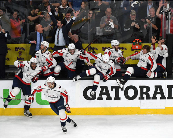 2018 NHL Stanley Cup Final - Game Five [oshie 77,sports,college ice hockey,team sport,player,ice hockey,hockey protective equipment,hockey,sports gear,ice hockey position,stick and ball games,andre burakovsky,devante smith-pelly 25,jay beagle,nicklas backstrom,five,l-r,nhl,boards,stanley cup final]