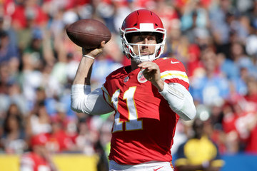 Alex Smith Kansas City Chiefs vLos Angeles Chargers
