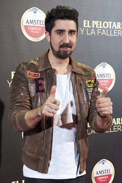 'El Pelotari Y La Fallera' Madrid Premiere [el pelotari y la fallera,madrid premiere,cinema,facial hair,muscle,jacket,beard,moustache,alex ubago,spanish,madrid,spain,callao,premiere]