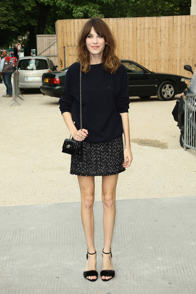 Alexa Chung Alexa Chung attends the Chanel Haute-Couture Show as part of Paris Fashion Week Fall / Winter 2012/13 at Grand Palais on July 3, 2012 in Paris, France.
