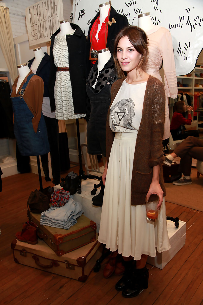 Alexa Chung in Alexa Chung for Madewell Launch Party
