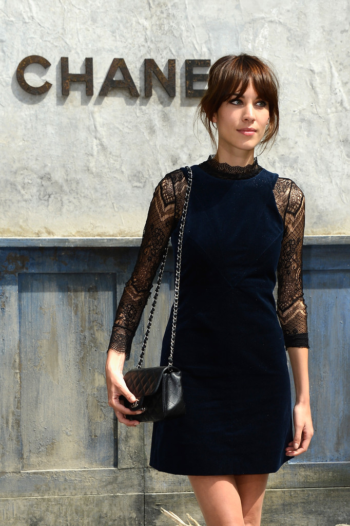 Alexa Chung - PFW: Front Row at Chanel