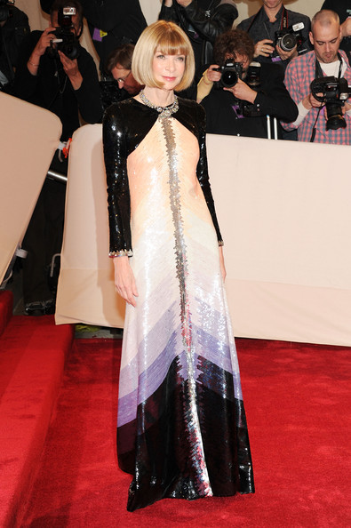 """Editor-in-chief of American Vogue Anna Wintour attends the """"Alexander McQueen: Savage Beauty"""" Costume Institute Gala at The Metropolitan Museum of Art on May 2, 2011 in New York City."""