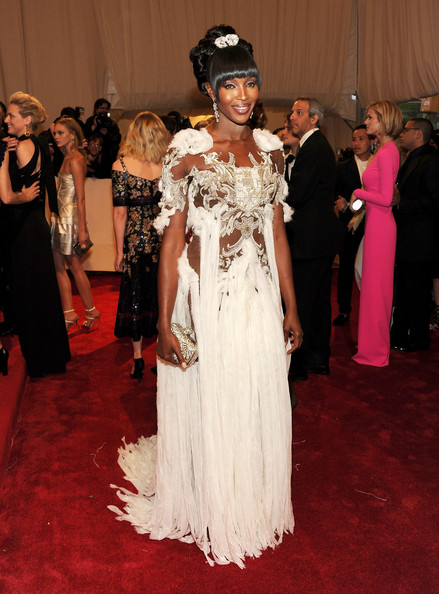 "Model Naomi Campbell attends the ""Alexander McQueen: Savage Beauty"" Costume Institute Gala at The Metropolitan Museum of Art on May 2, 2011 in New York City."