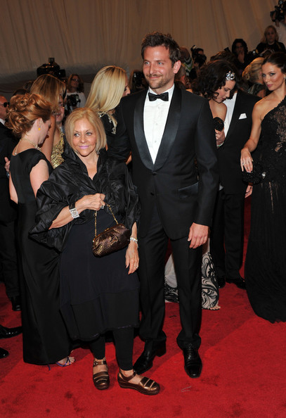 "Gloria Cooper and actor Bradley Cooper attend the ""Alexander McQueen: Savage Beauty"" Costume Institute Gala at The Metropolitan Museum of Art on May 2, 2011 in New York City."