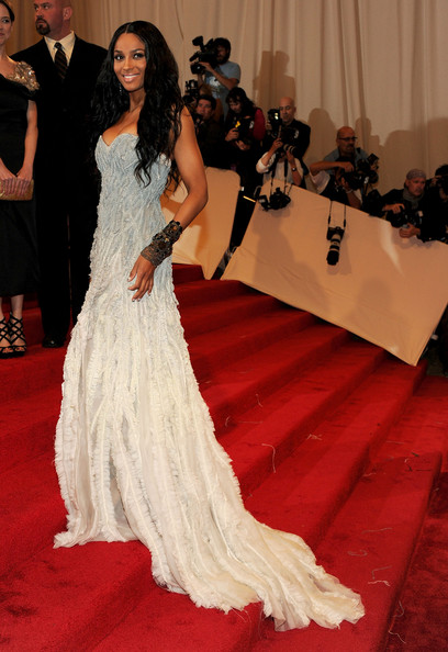 """Singer Ciara attends the """"Alexander McQueen: Savage Beauty"""" Costume Institute Gala at The Metropolitan Museum of Art on May 2, 2011 in New York City."""