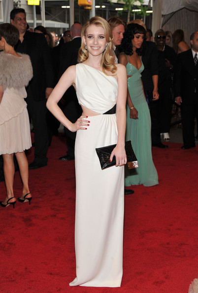 "Actress Emma Roberts attends the ""Alexander McQueen: Savage Beauty"" Costume Institute Gala at The Metropolitan Museum of Art on May 2, 2011 in New York City."