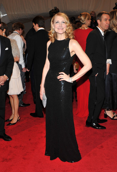 "Actress Patricia Clarkson attends the ""Alexander McQueen: Savage Beauty"" Costume Institute Gala at The Metropolitan Museum of Art on May 2, 2011 in New York City."