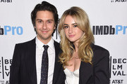 Nat Wolff and Grace Van Patten attend as Alexander Skarsgård receives the IMDb STARmeter Award at The 2019 Tribeca Film Festival After Party for The Kill Team hosted by IMDbPro at The Ainsworth - FiDi on April 27, 2019 in New York City.
