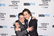 Producer Isaac Klausner and actor Nat Wolff attend as Alexander Skarsgård receives the IMDb STARmeter Award at The 2019 Tribeca Film Festival After Party for The Kill Team hosted by IMDbPro at The Ainsworth - FiDi on April 27, 2019 in New York City.