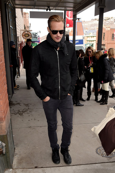 Alexander Skarsgard - Celeb Sightings in Park City