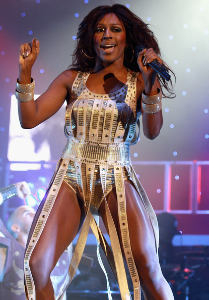 Singer Alexandra Burke performs at Hammersmith Apollo on February 10 2011