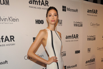 Alexandra Agoston Arrivals at amfAR's Inspiration Gala