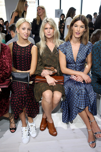 Michael Kors Spring 2016 Runway Show - Front Row [michael kors spring 2016 runway show,the shows,fashion,event,beauty,lady,fashion design,hairstyle,fashion show,haute couture,design,footwear,princess,hanneli mustaparta,alexandra richards,front row,olympia,new york city,spring studios,new york fashion week]
