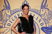 Esther Anderson attends a Diesel event as part of the brand's controversial new campaign 'Diesel Island: Land of the Stupid & Home of the Brave' at Sun Studios on August 31, 2011 in Sydney, Australia.