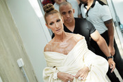 Celine Dion attends the Alexandre Vauthier Haute Couture Fall/Winter 2019 2020 show as part of Paris Fashion Week on July 02, 2019 in Paris, France.