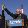 Alexandria Ocasio-Cortez Bernie Sanders Returns To The Campaign Trail With A Rally In New York City