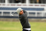 Edoardo Molinari of Italy plays his second shot on the second during day four of the 2018 Alfred Dunhill Links Championship at The Old Course on October 7, 2018 in St Andrews, Scotland.