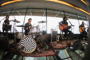 Image was captured with a wide angle lens) (L-R) Mike Inez, Sean Kinney, William DuVall and Jerry Cantrell of Alice In Chains perform for SiriusXM's Lithium Channel at The Space Needle on August 21, 2018 in Seattle, Washington.