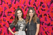 Actress Victoria Justice (L) and sister Madison Reed attend the Alice + Olivia By Stacey Bendet presentation during New York Fashion Week at The Angel Orensanz Foundation on February 11, 2019 in New York City.