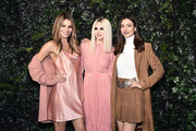 Madison Grace, Stacey Bendet and Victoria Justice attend the Alice + Olivia By Stacey Bendet fashion show during February 2020 - New York Fashion Week: The Shows on February 10, 2020 in New York City.