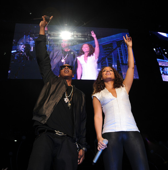 Jay-Z and Alicia Keys perform at Madison Square Garden on March 17, 2010 in New York City.