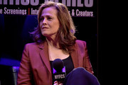 """Actress Sigourney Weaver takes part in a discussion following a 40th Anniversary screening of """"Alien"""" at Symphony Space on November 29, 2018 in New York City."""