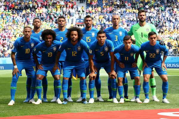 Brazil Vs. Costa Rica: Group E - 2018 FIFA World Cup Russia [team photo,player,sports,team,team sport,football player,sport venue,ball game,soccer player,product,championship,players,costa rica: group e - 2018 fifa world cup,russia,saint petersburg stadium,costa rica,brazil,group,match,2018 fifa world cup]