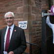 Alistair Darling Voters Show Up at the Polls in Scotland