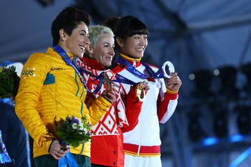 Alla Tsuper Medal Ceremony - Winter Olympics Day 8
