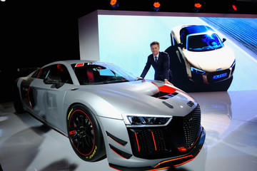 Allan McNish Audi Sport Unveils New Model Ahead of New York International Auto Show