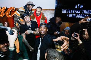 Allen Iverson Nate Robinson The Players' Tribune + Heir Jordan Host Players' Night Out At The Royale Party At Bounce Sporting Club In Chicago
