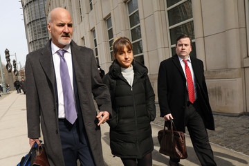 Allison Mack Actress Allison Mack Leaves Court With Her Lawyers After Court Appearance For The NXIVM Sex Cult Case