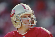 Joe Montana #16, Quarterback of the San Francisco 49ers during their National Football Conference West game on 19 December 1992 at Candlestick Park, San Francisco, California, United States. The 49ers won the game 21 - 14.
