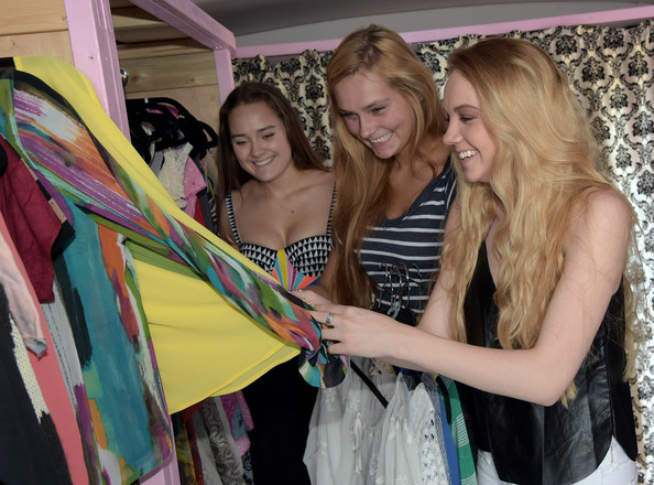 Threads for Teens Mobile Tour [season,fashion,yellow,dress,event,fashion design,fun,blond,room,long hair,prom,allyson ahlstrom,teens,founder,teen,winner,threads for teens mobile boutique tour,threads,studio,mobile tour]