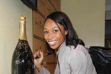 Allyson Felix The Moet & Chandon Suite At The 2013 US Open - Day 14
