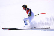 Viktoria Rebensburg of Germany finishes during the Ladies' Downhill on day 12 of the PyeongChang 2018 Winter Olympic Games at Jeongseon Alpine Centre on February 21, 2018 in Pyeongchang-gun, South Korea.