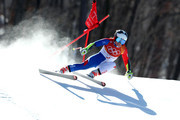 Tessa Worley of France competes during the Alpine Skiing Ladies Super-G on day eight of the PyeongChang 2018 Winter Olympic Games at Jeongseon Alpine Centre on February 17, 2018 in Pyeongchang-gun, South Korea.