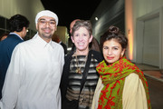 Bashar Al Shroogi, Beth Rudin De Woody and Zain Masud attend Alserkal Avenue and the Alserkal family hosts a private VIP dinner in celebration of its expansion in Alserkal Avenue's The Yard on March 19, 2015 in Dubai, United Arab Emirates.