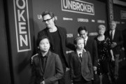 Actor Brad Pitt (C), (L-R) Pax Thien Jolie-Pitt, Shiloh Nouvel Jolie-Pitt,, Maddox Jolie-Pitt, Jane Pitt, and William Pitt attend the premiere of 'Unbroken' at TCL Chinese Theatre on December 15, 2014 in Hollywood, California.