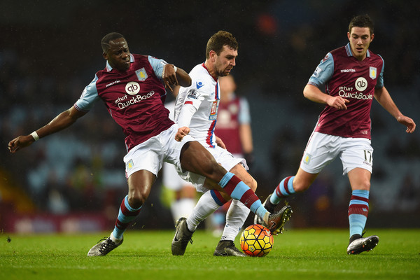 Aston Villa v Crystal Palace - Premier League [player,sports,soccer player,sports equipment,football player,team sport,ball game,football,soccer,tournament,james mcarthur,jordan veretout,aly cissokho,crystal palace,villa park,england,birmingham,aston villa,premier league,match]