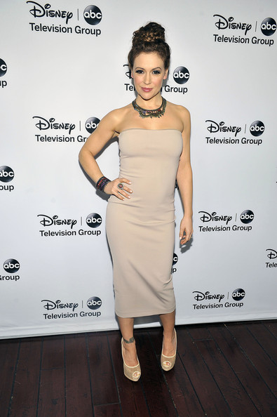 "Alyssa Milano - Disney ABC Television Group's ""2013 Winter TCA Tour"" Red Carpet Event - Arrivals"