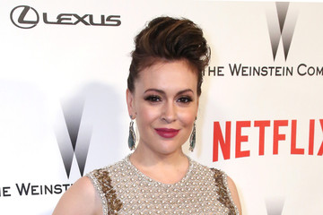 Alyssa Milano The Weinstein Company and Netflix Golden Globes Party — Part 2
