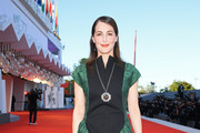"Amira Casar walks the red carpet ahead of the movie ""Amants"" at the 77th Venice Film Festival at  on September 03, 2020 in Venice, Italy."