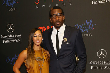 Amare Stoudemire Alexis Welch MBFW: Arrivals at the Style Awards